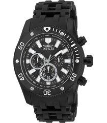 reloj invicta negro modelo 148ra para hombre, colección sea spider