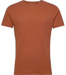 alder basic tee t-shirts short-sleeved brun knowledge cotton apparel
