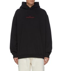 inverted logo embroidered hoodie