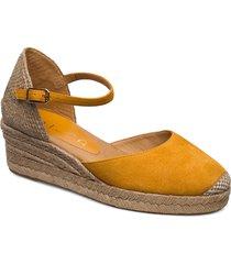 cisca_20_ks sandalette med klack espadrilles gul unisa