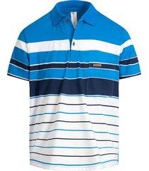 camiseta tipo polo puntazul con bolsillo azul turquesa