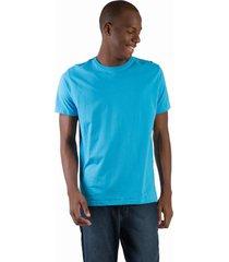 t-shirt básica comfort azul turquesa azul turquesa/g - kanui