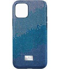 custodia per smartphone con bordi protettivi crystalgram, iphoneâ® 11 pro, azzurro