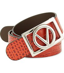 pierre croco-embossed belt