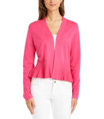 charter club petite peplum cardigan sweater, created for macy's