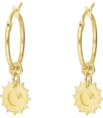 orecchini a cerchio con sole per donna