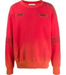ambush stitched logo sweatshirt - orange