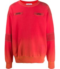 ambush stitched logo sweatshirt - orange