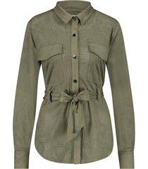 blouse met studs en ceintuur felipa  groen