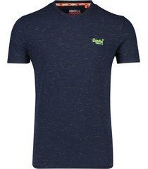 superdry vintage t-shirt ronde hals navy