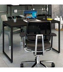 mesa escrivaninha kuadra ônix - compace