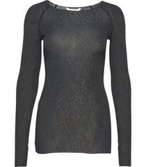 amalie solid t-shirts & tops long-sleeved zwart gai+lisva