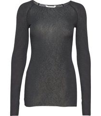 amalie solid t-shirts & tops long-sleeved zwart gai+lisva