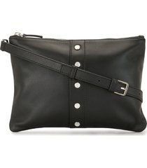 agnès b. studded crossbody bag - black