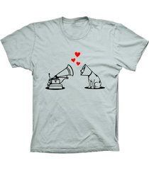 camiseta baby look lu geek amor de cã£o prata - prata - feminino - dafiti