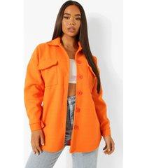 oversized gekleurde tussenjas, orange