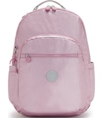 kipling seoul xl metallic backpack