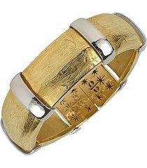 torrini designer bracelets, morphos - 18k yellow and white gold cuff bracelet