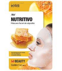kiss ny professional máscara facial de algodão- mel único