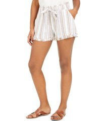 rewash juniors' striped frayed shorts