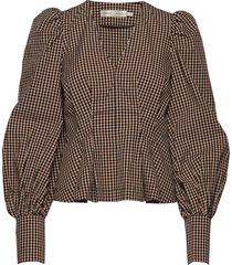 pedrineiw blouse blouse lange mouwen bruin inwear