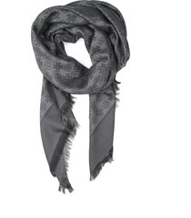 tory burch scarf with logo
