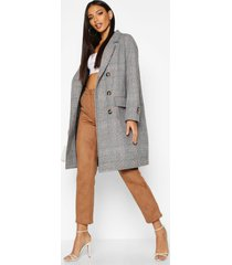 flannel wool look trench coat, grey