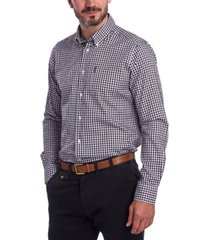 barbour men's tailored-fit gingham check shirt