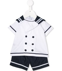 aletta sailor t-shirt and shorts set - white