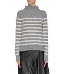 'brenton' stripe cashmere turtleneck sweater