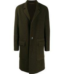 ami paris unstructured coat - brown