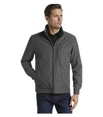 reserve collection traditional fit microfiber bomber jacket clearance