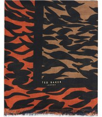 women's ted baker london poppy persimmon woven scarf, size one size - brown
