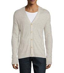 long-sleeve silk & cashmere cardigan
