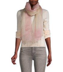 saachi women's border silk-blend scarf - pink
