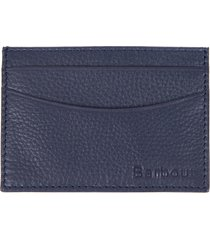 men's barbour amble rfid leather card case - blue