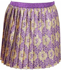 gucci gold skirt for girl with double gg and flowers
