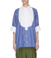 'bowtie' oversized stripe shirt