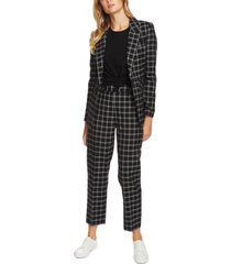 1.state windowpane plaid blazer