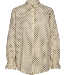 slfnova ls aop long shirt b overhemd met lange mouwen geel selected femme