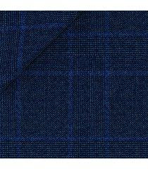 giacca da uomo su misura, drago, natural stretch blu principe di galles, quattro stagioni   lanieri