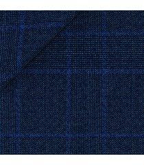 abito da uomo su misura, drago, natural stretch blu principe di galles, quattro stagioni | lanieri