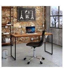 mesa de escritório studio nogal 135 cm