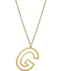 women's jane basch designs varsity initial pendant necklace