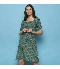 tranquillo jurk yawa a-lijn beas groen