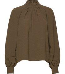 eddy, 1032 structure stretch blouse lange mouwen groen stine goya