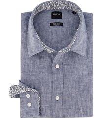 blauw overhemd hugo boss regular fit