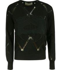 iceberg mickey mouse embroidery sweatshirt