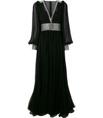 dolce & gabbana embellished evening dress - black