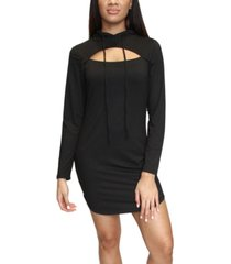 almost famous juniors' cutout hoodie dress